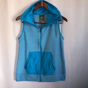 Under Armour Cold Gear Blue Fleece Vest Size Small